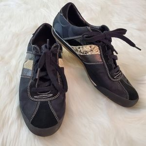 Coach Mable Sz 10 Black Signature Sneakers